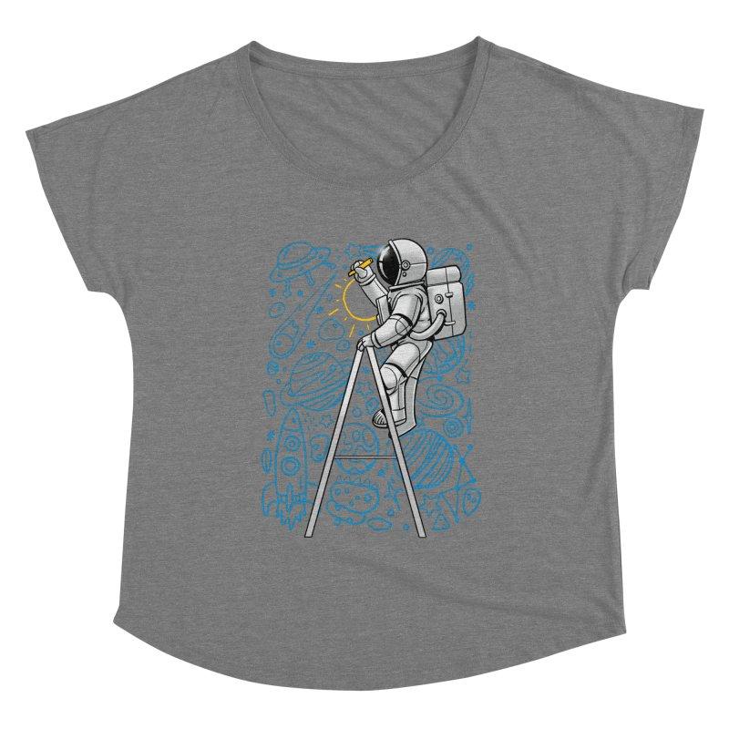 Space Doodle Women's Scoop Neck by digital carbine