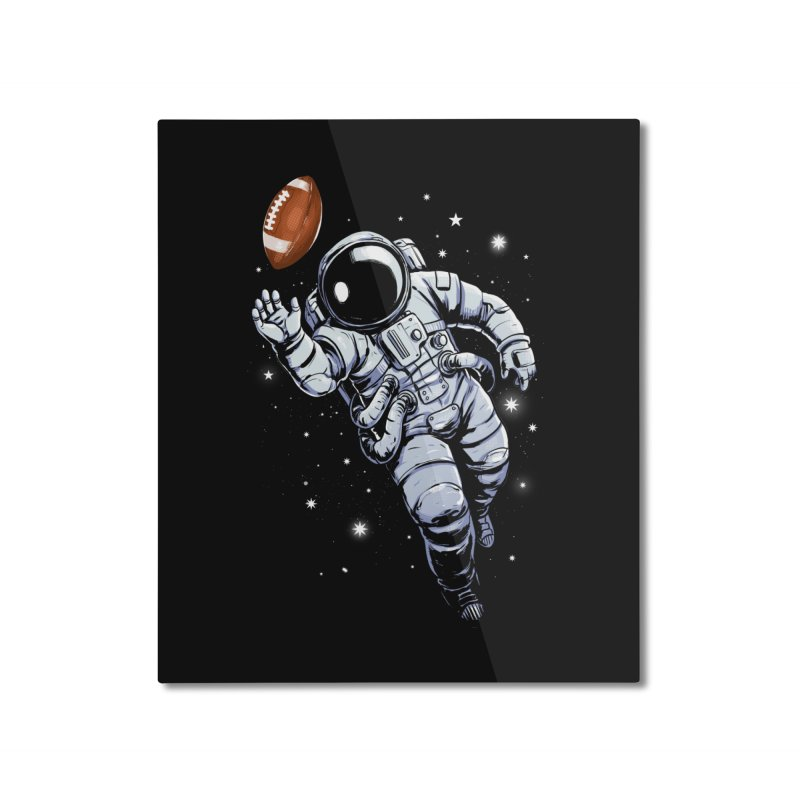 Planet Football Home Mounted Aluminum Print by digital carbine