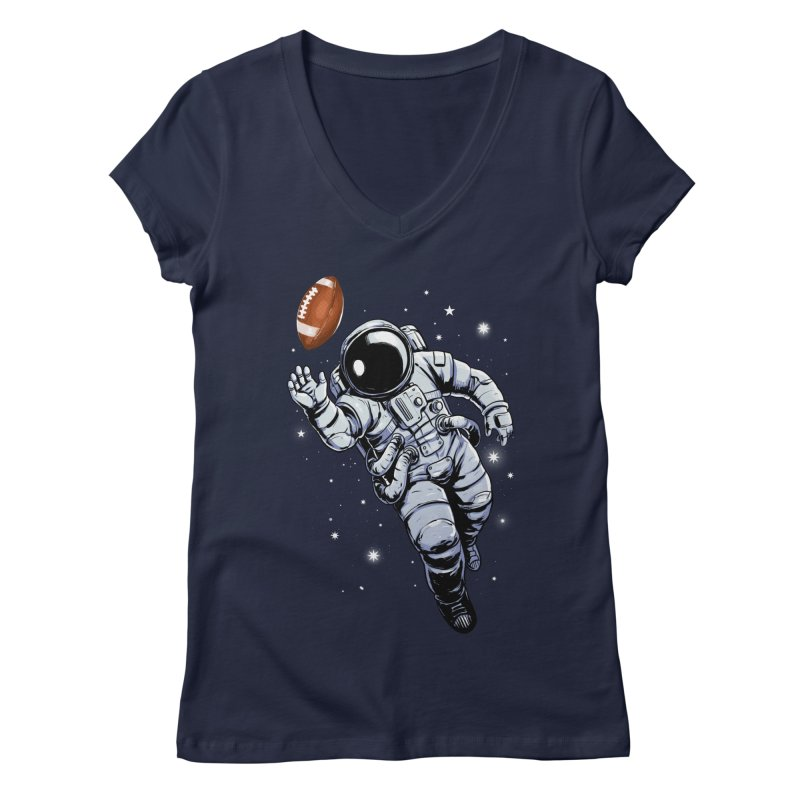 Planet Football Women's V-Neck by digital carbine