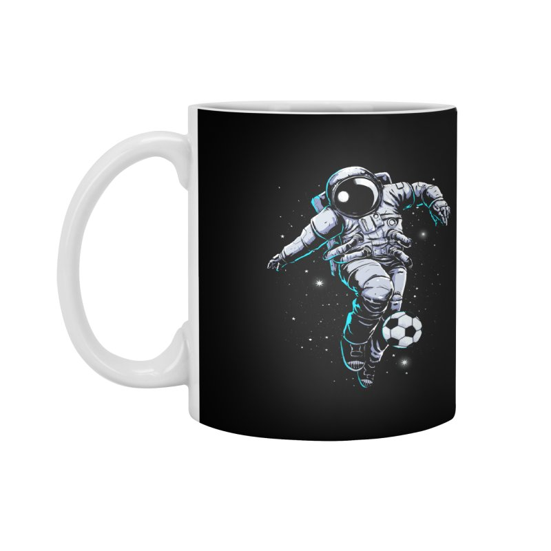 Space Soccer Accessories Mug by digital carbine