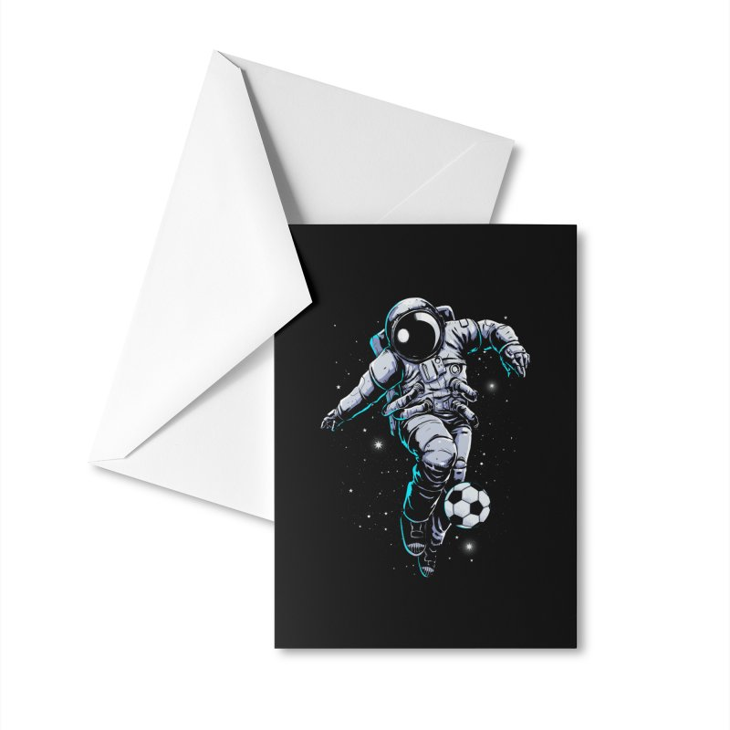 Space Soccer Accessories Greeting Card by digital carbine