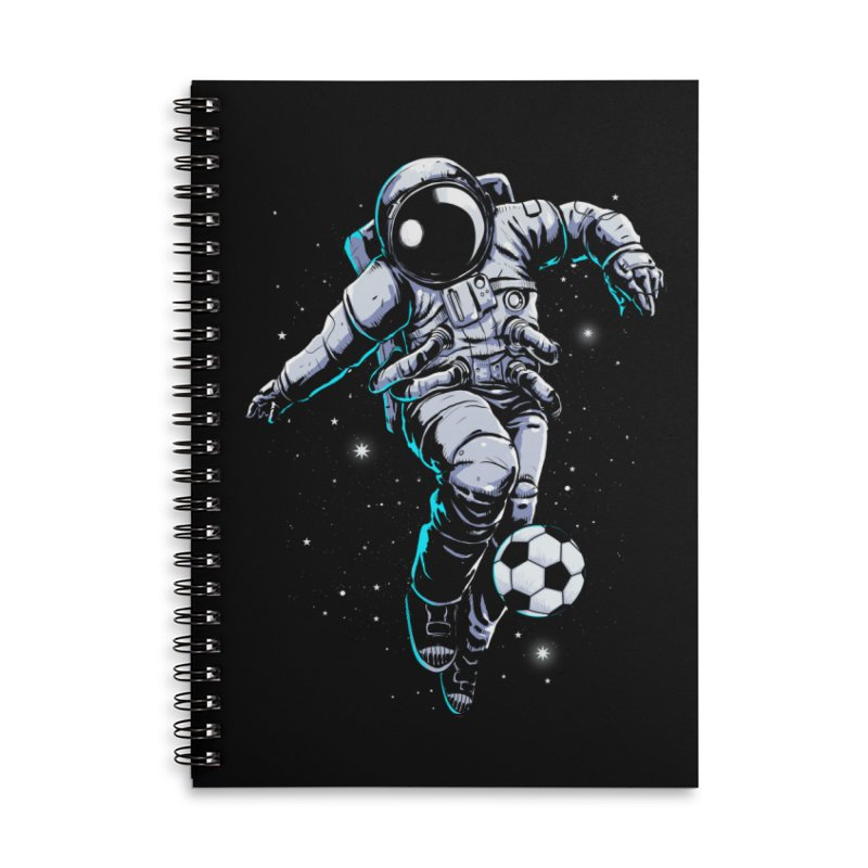 Space Soccer Accessories Notebook by digital carbine