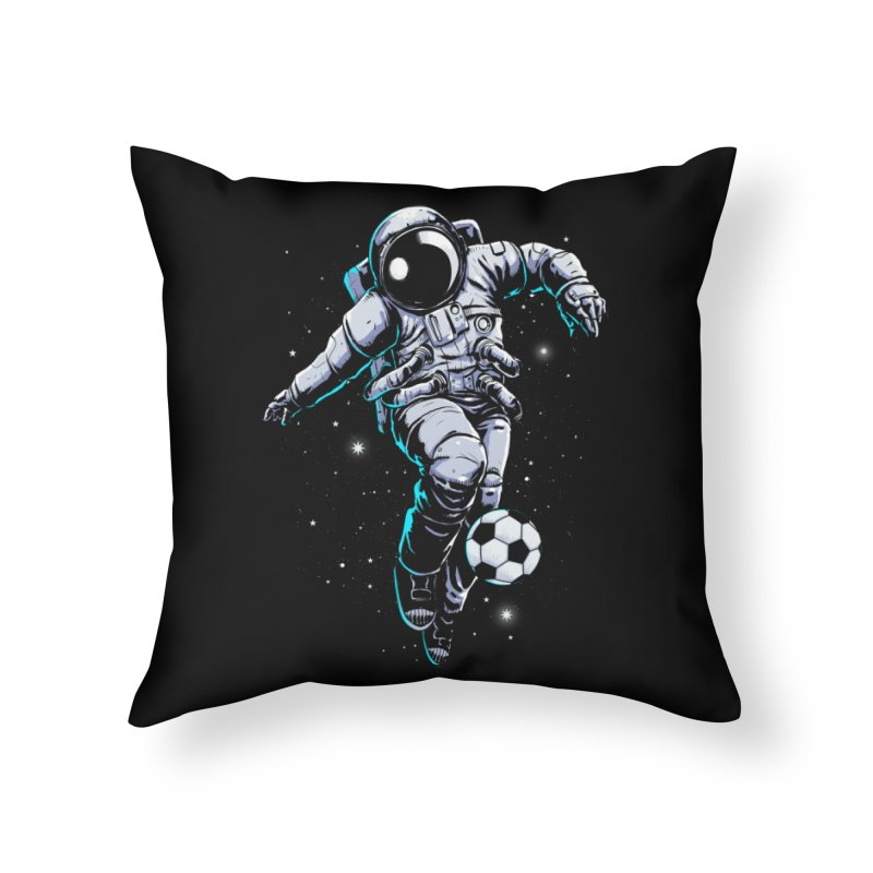 Space Soccer Home Throw Pillow by digital carbine