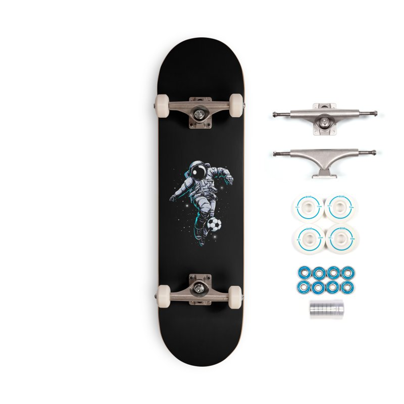 Space Soccer Accessories Skateboard by digital carbine