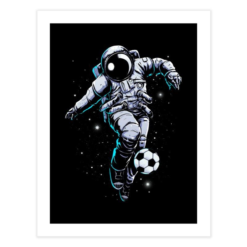 Space Soccer Home Fine Art Print by digital carbine