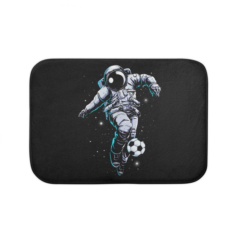 Space Soccer Home Bath Mat by digital carbine