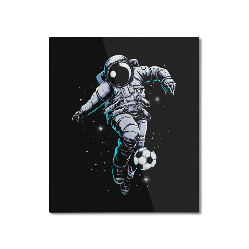 Space Soccer Home Mounted Aluminum Print by digital carbine