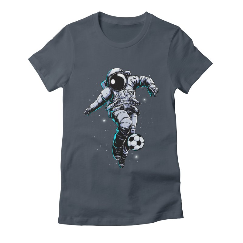 Space Soccer Women's T-Shirt by digital carbine