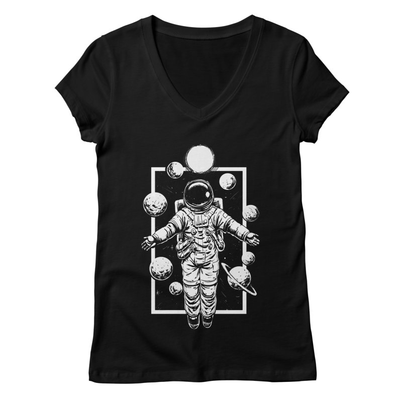 Feel Calm and Free Women's V-Neck by digital carbine