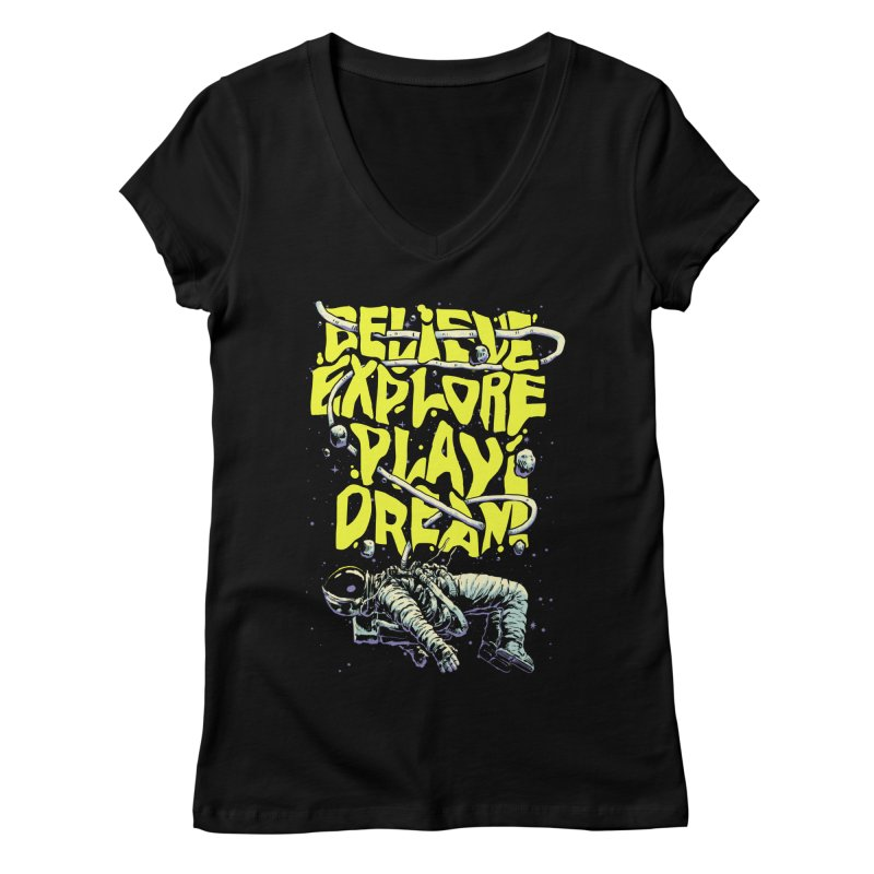Believe Women's V-Neck by digital carbine
