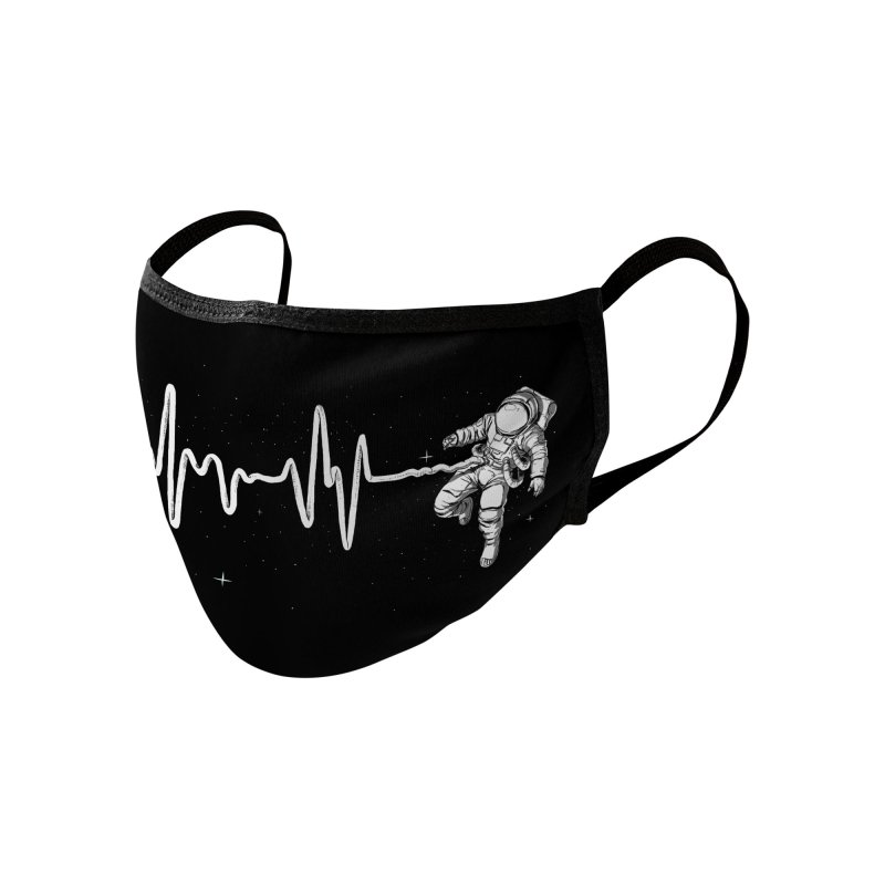 Space Heartbeat Accessories Face Mask by digital carbine