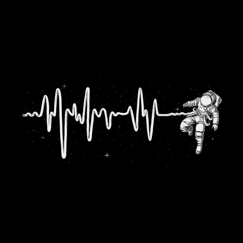 Space Heartbeat Home Stretched Canvas by digital carbine