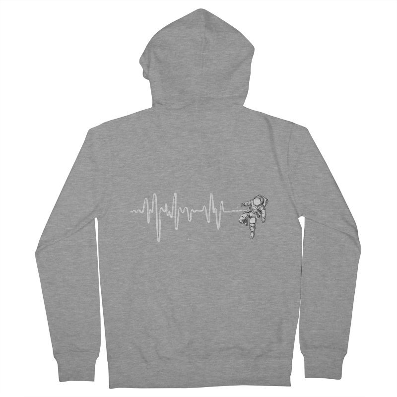 Space Heartbeat Men's French Terry Zip-Up Hoody by digital carbine