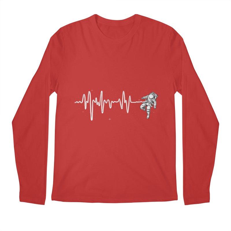 Space Heartbeat Men's Regular Longsleeve T-Shirt by digital carbine