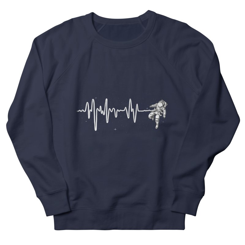 Space Heartbeat Women's French Terry Sweatshirt by digital carbine