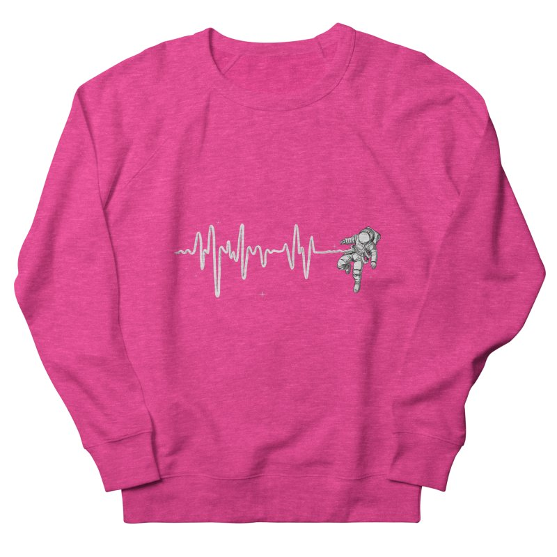 Space Heartbeat Men's French Terry Sweatshirt by digital carbine