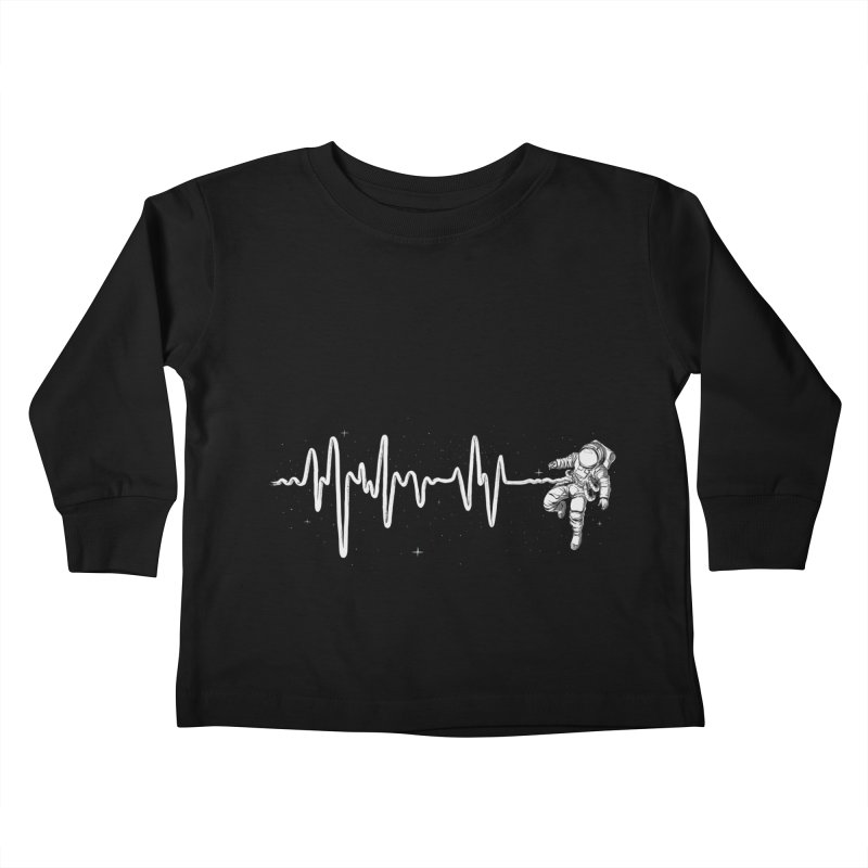 Space Heartbeat Kids Toddler Longsleeve T-Shirt by digital carbine