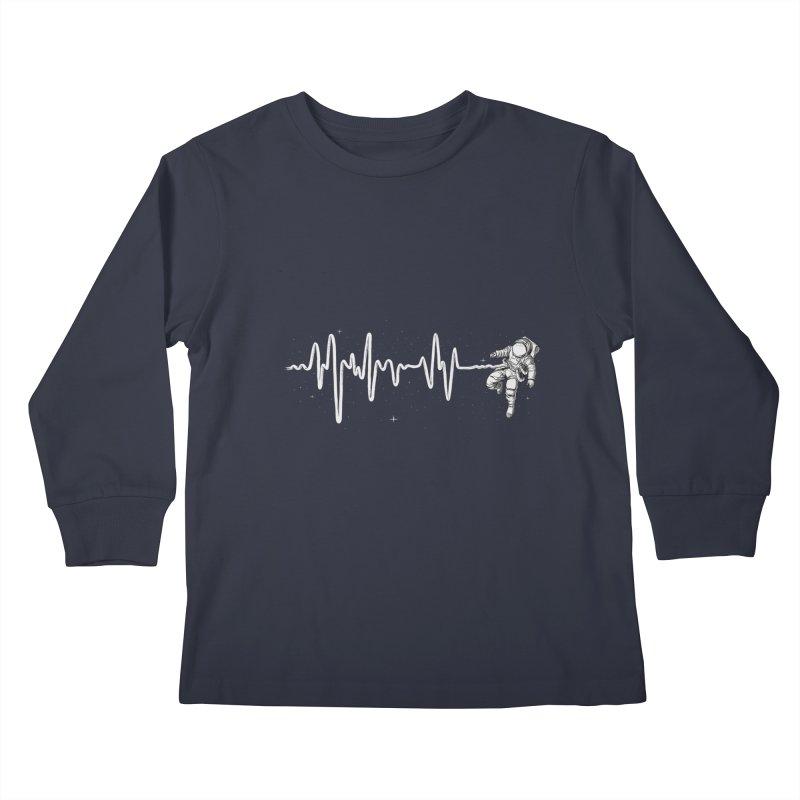 Space Heartbeat Kids Longsleeve T-Shirt by digital carbine