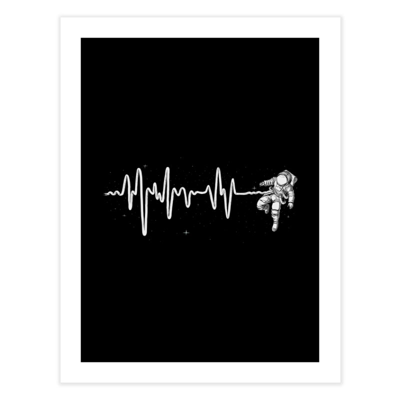 Space Heartbeat Home Fine Art Print by digital carbine