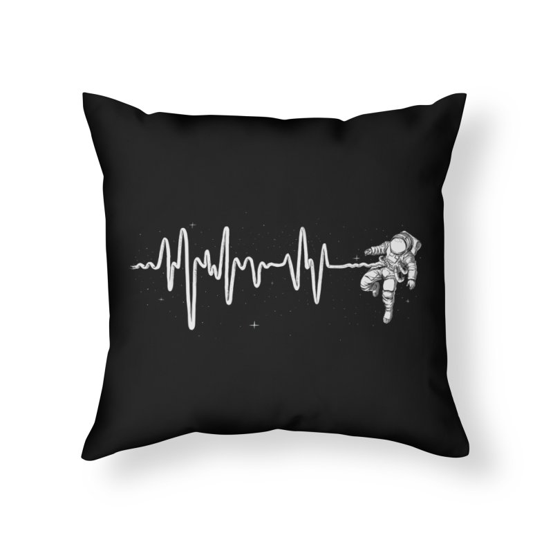 Space Heartbeat Home Throw Pillow by digital carbine