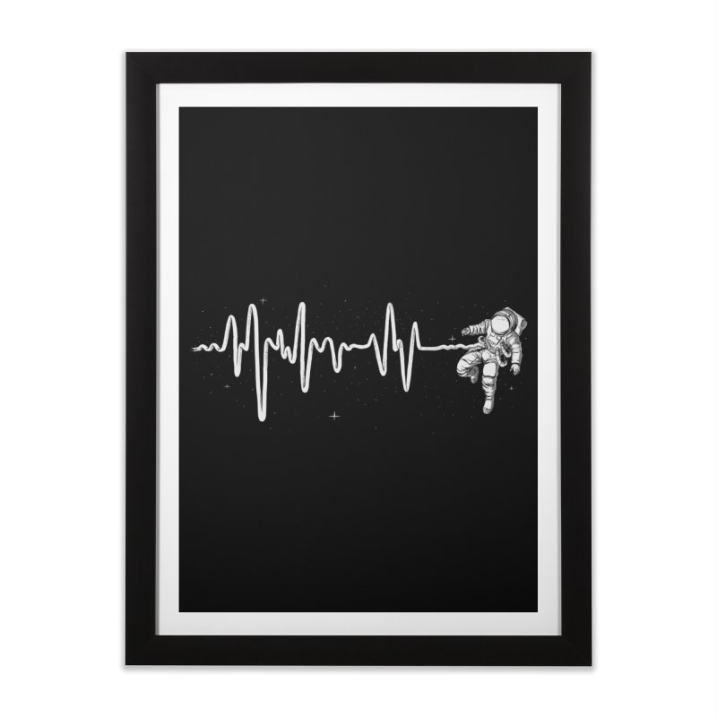 Space Heartbeat Home Framed Fine Art Print by digital carbine