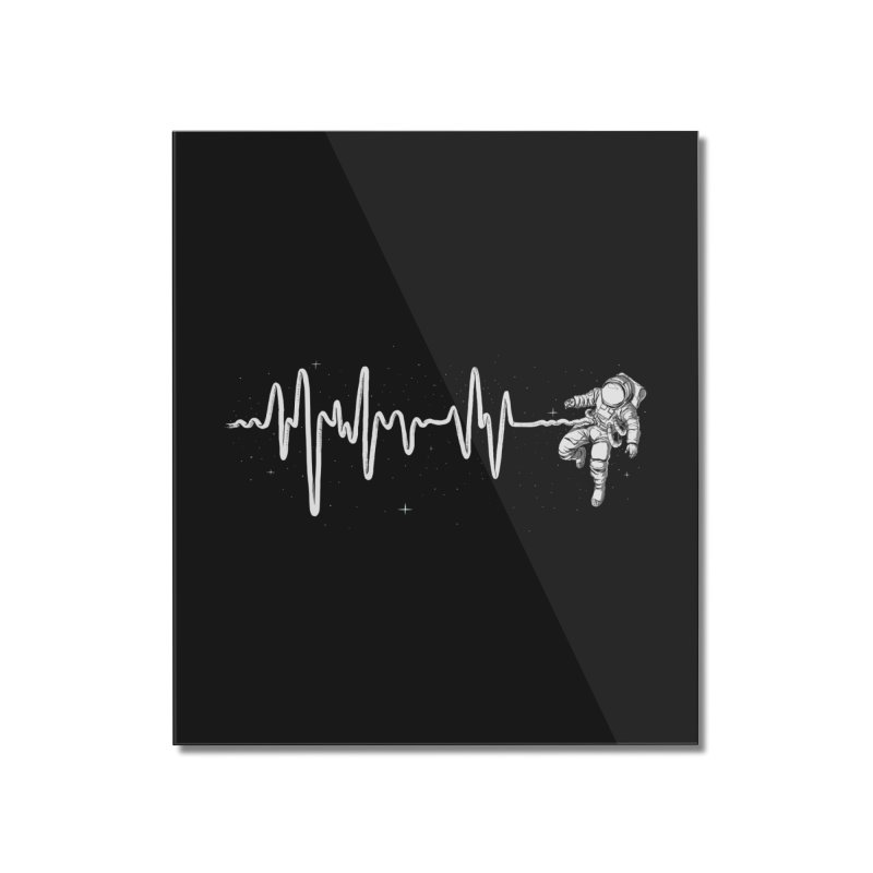 Space Heartbeat Home Mounted Acrylic Print by digital carbine