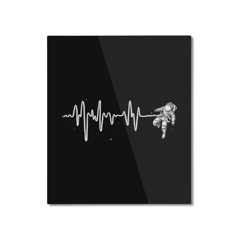 Space Heartbeat Home Mounted Aluminum Print by digital carbine