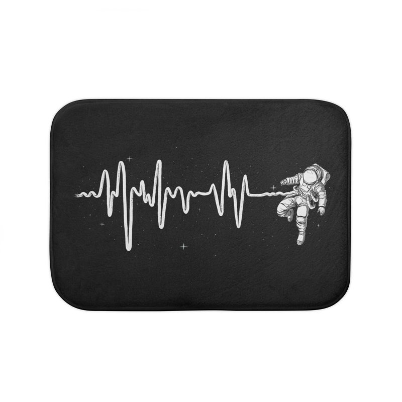 Space Heartbeat Home Bath Mat by digital carbine