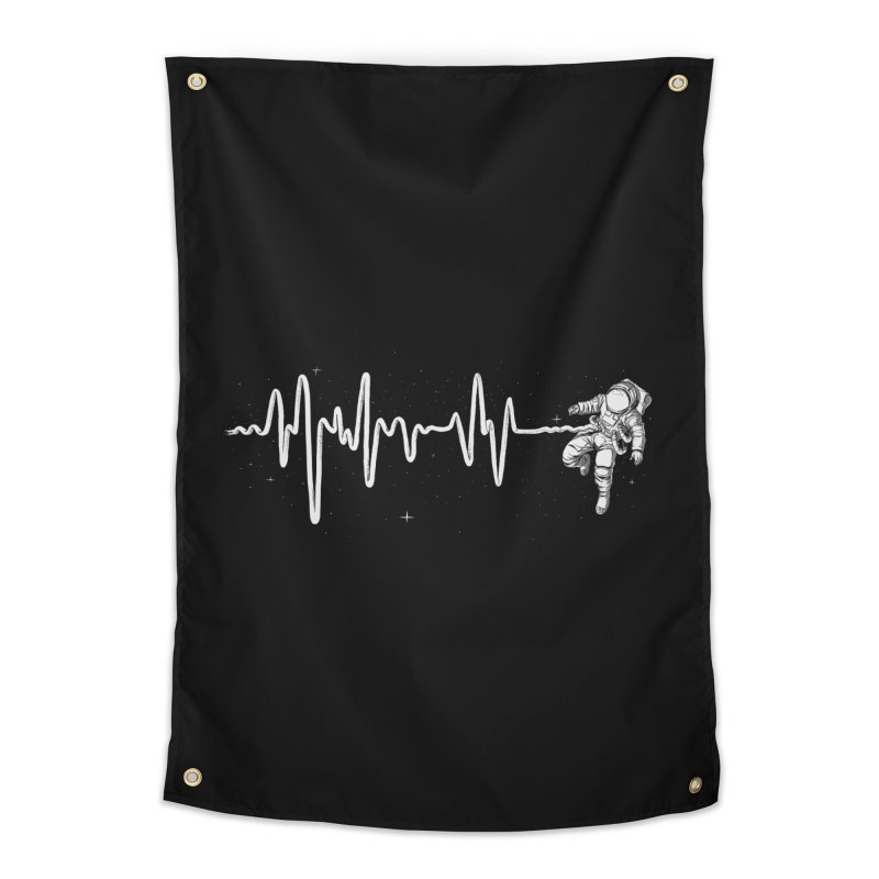 Space Heartbeat Home Tapestry by digital carbine