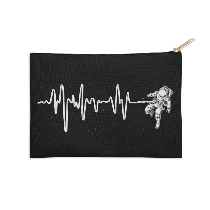 Space Heartbeat Accessories Zip Pouch by digital carbine