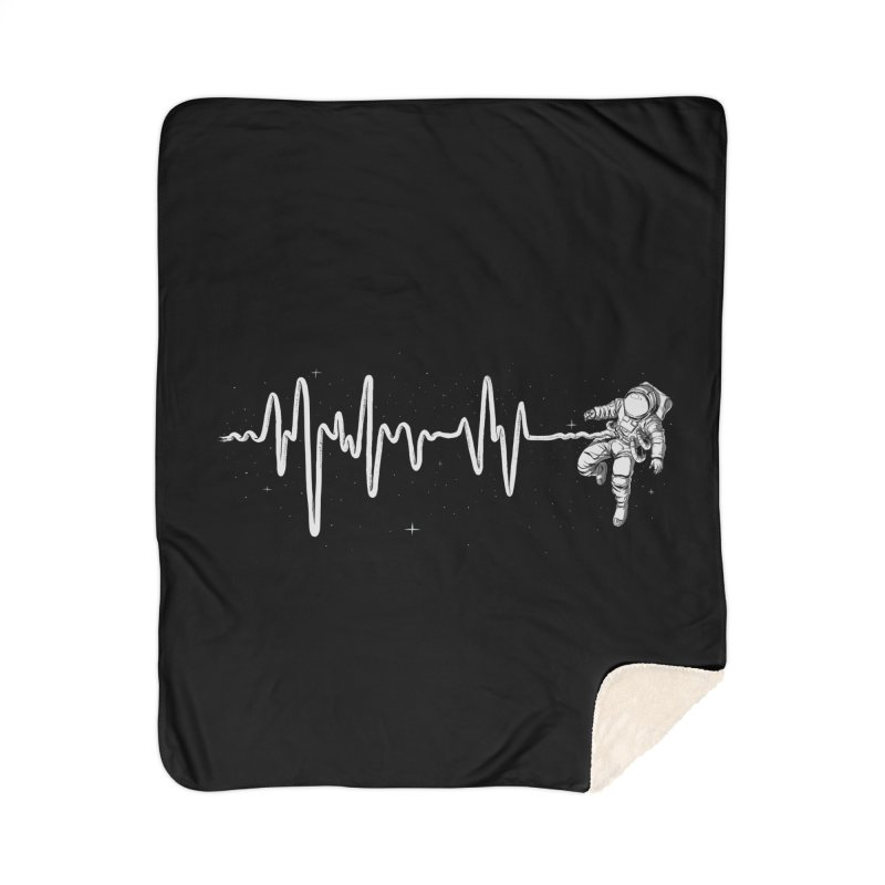 Space Heartbeat Home Blanket by digital carbine