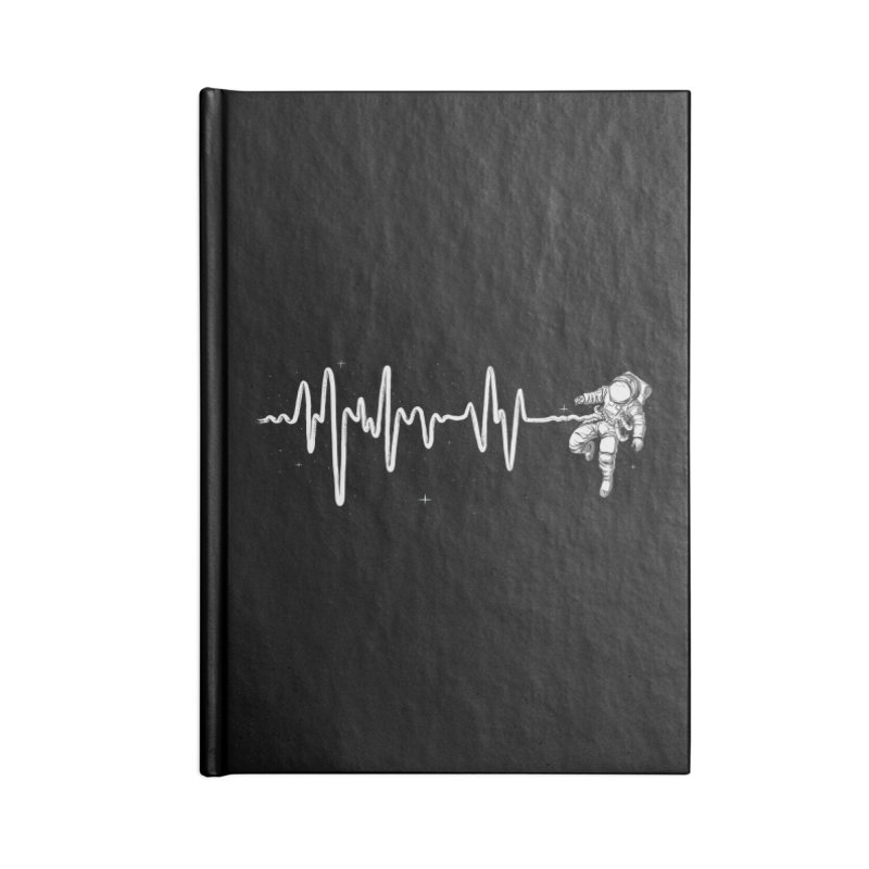 Space Heartbeat Accessories Lined Journal Notebook by digital carbine
