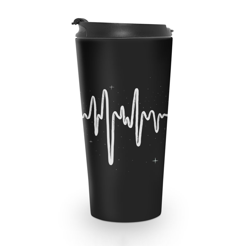 Space Heartbeat Accessories Travel Mug by digital carbine