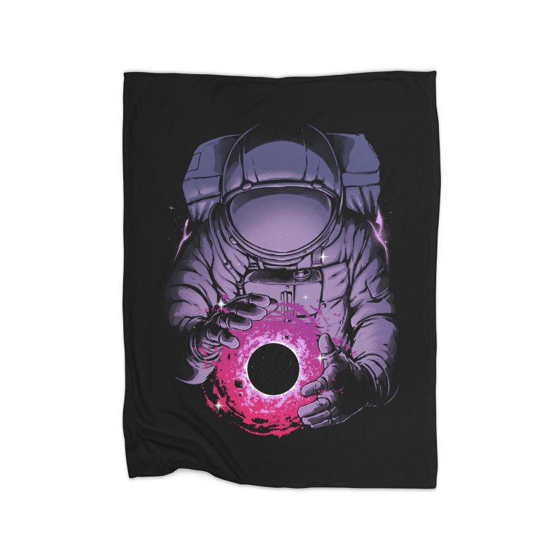 Deep Space Home Fleece Blanket Blanket by digital carbine