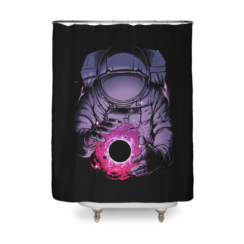 Deep Space Home Shower Curtain by digital carbine