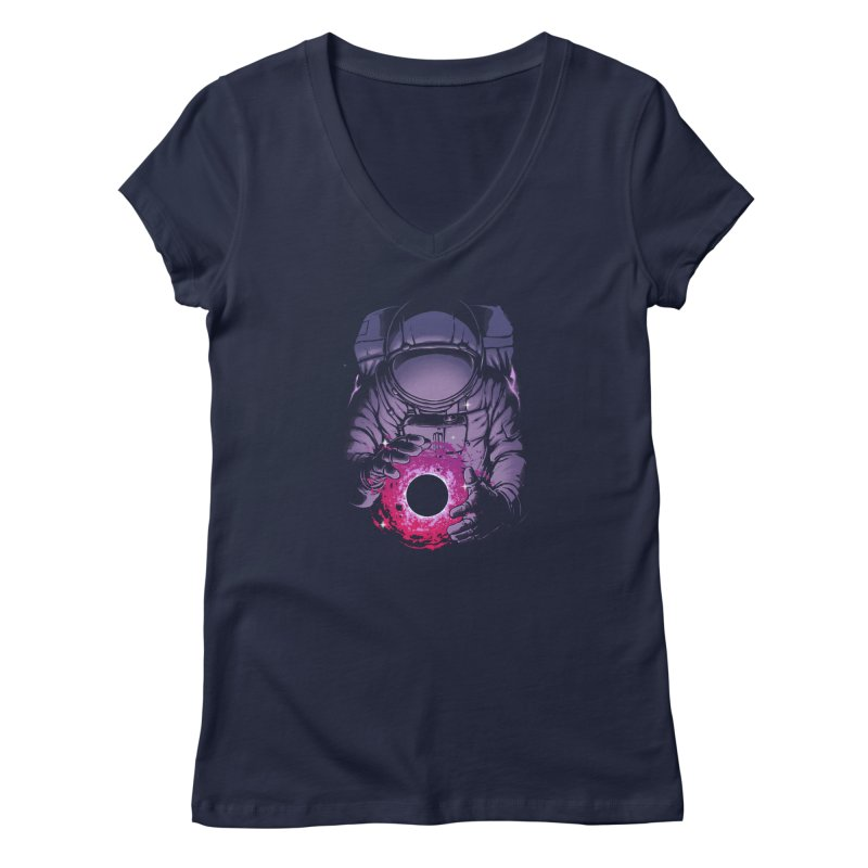 Deep Space Women's Regular V-Neck by digital carbine