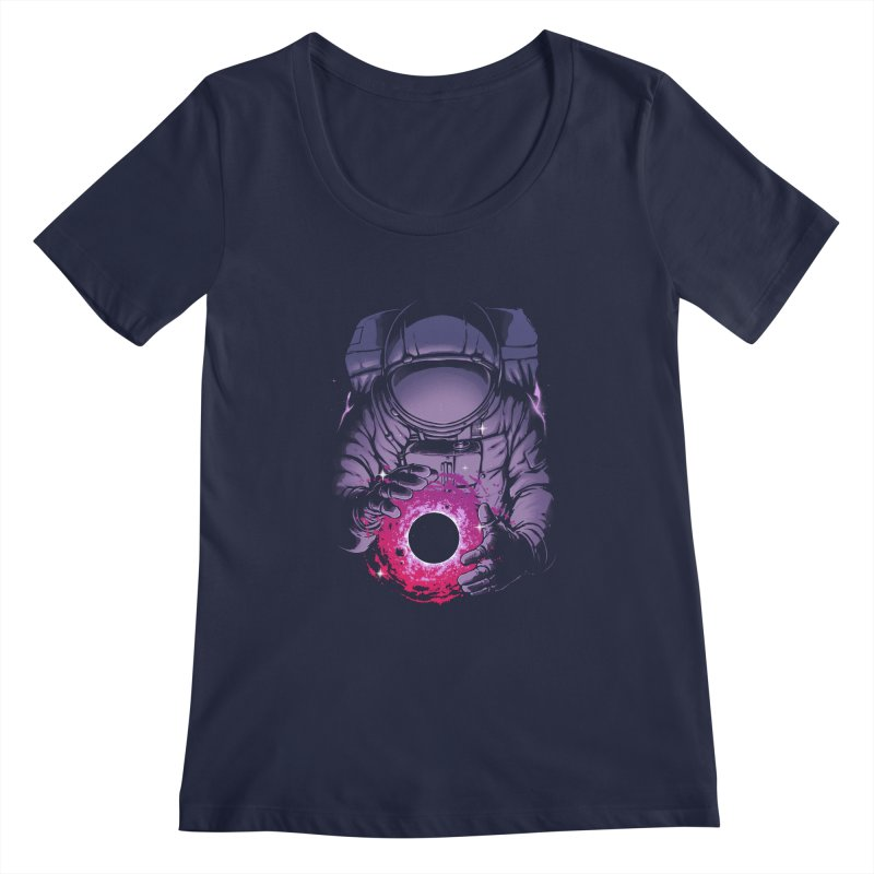 Deep Space Women's Regular Scoop Neck by digital carbine