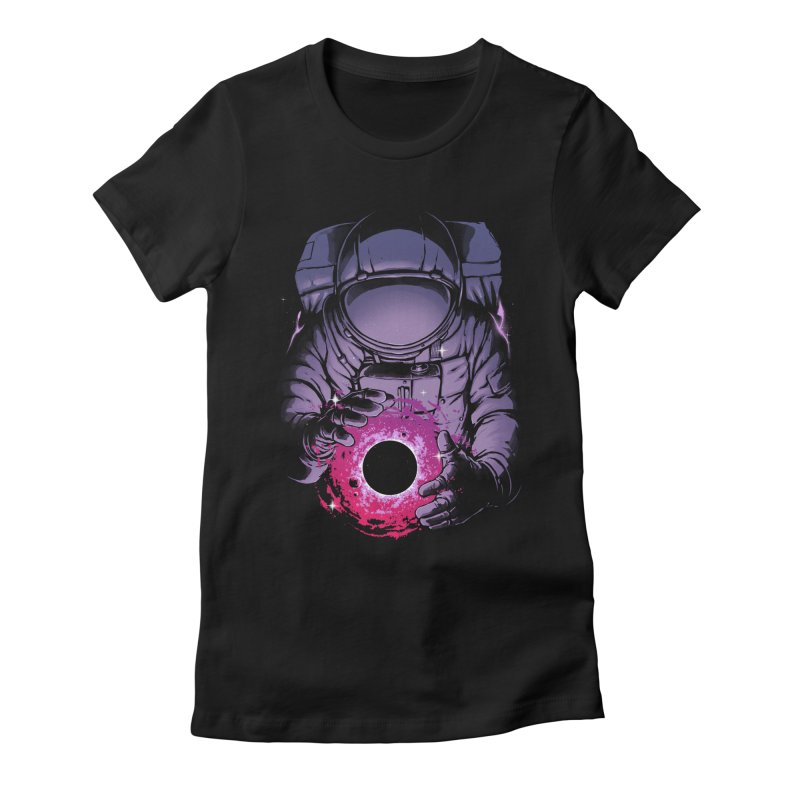 Deep Space Women's Fitted T-Shirt by digital carbine