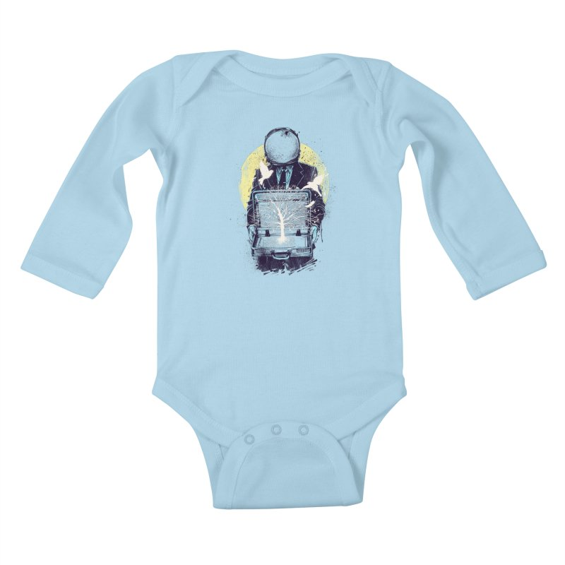 A New Life Kids Baby Longsleeve Bodysuit by digitalcarbine