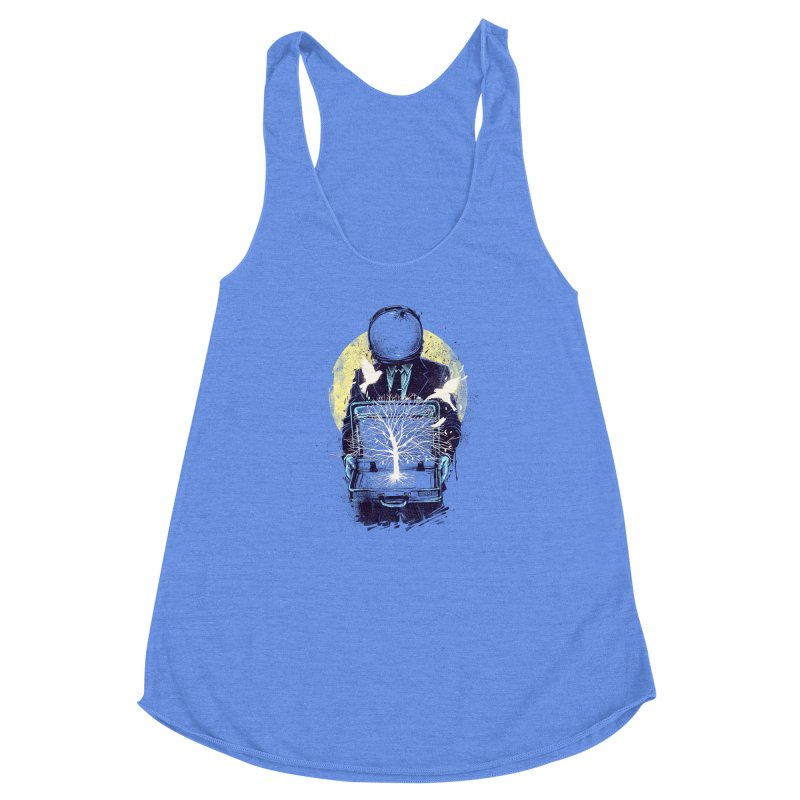 A New Life Women's Racerback Triblend Tank by digitalcarbine
