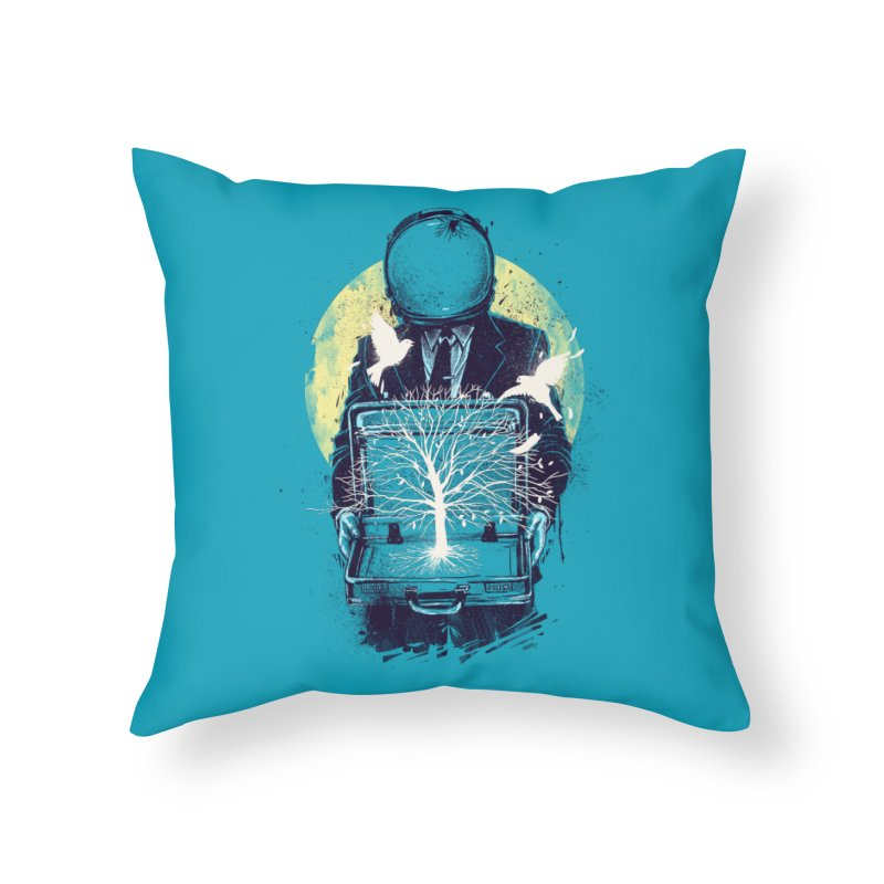 A New Life Home Throw Pillow by digital carbine