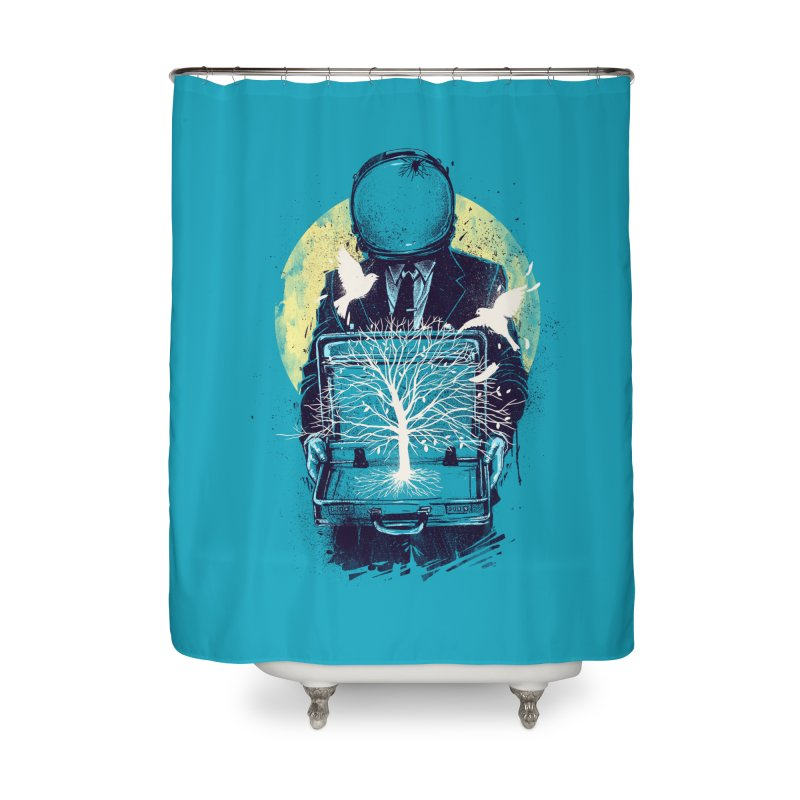 A New Life Home Shower Curtain by digital carbine