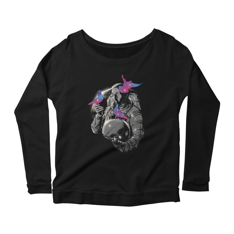 A Touch of Whimsy Women's Longsleeve Scoopneck  by digital carbine