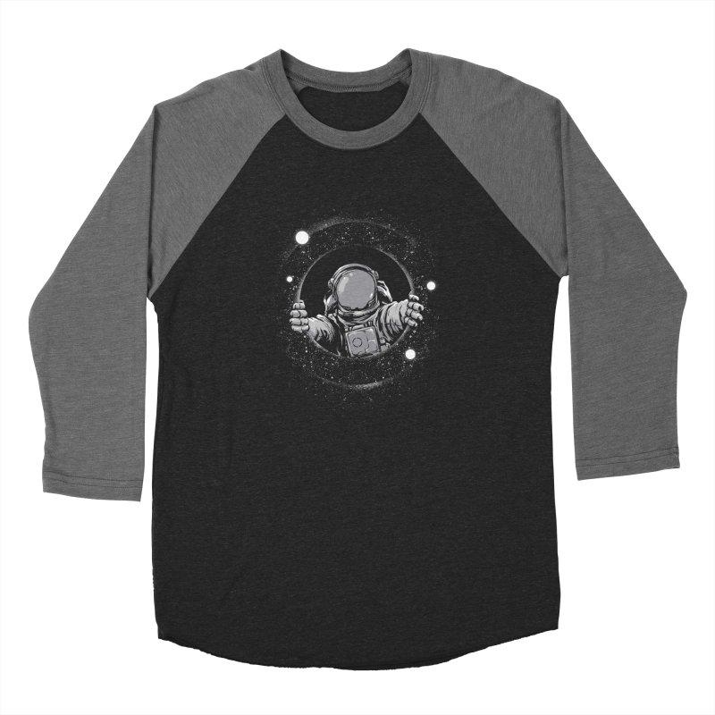 Black Hole Men's Baseball Triblend Longsleeve T-Shirt by digital carbine