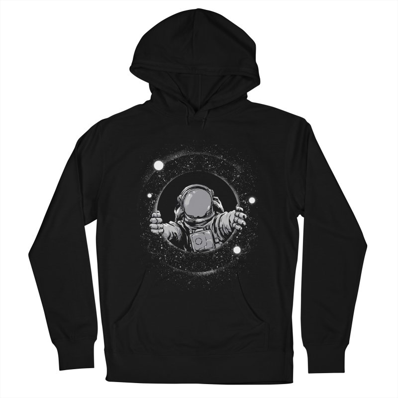 Black Hole Men's French Terry Pullover Hoody by digital carbine
