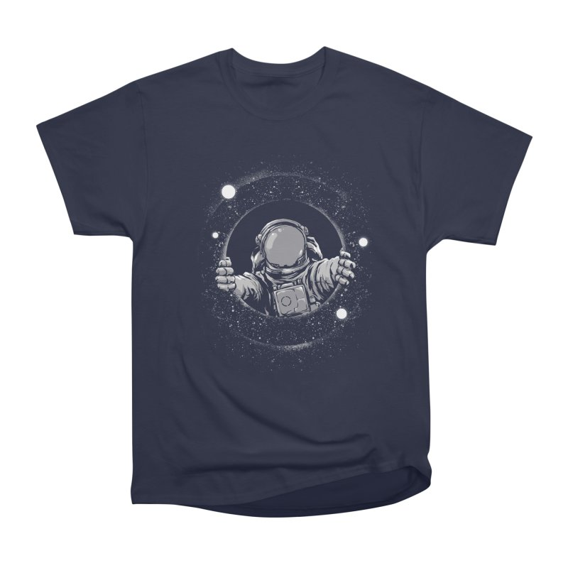 Black Hole Men's Heavyweight T-Shirt by digital carbine