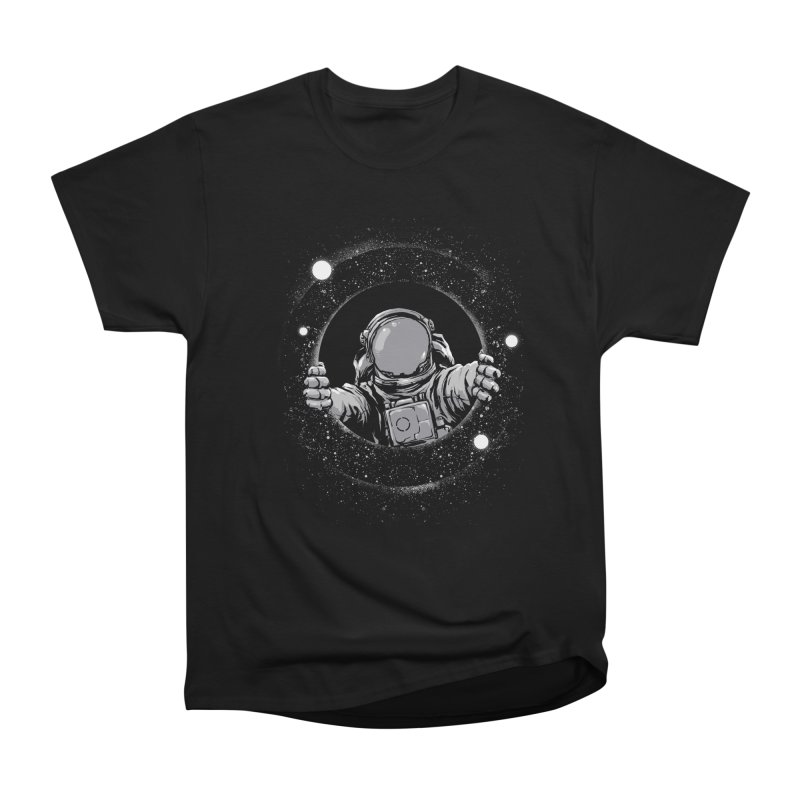 Black Hole Women's Heavyweight Unisex T-Shirt by digital carbine