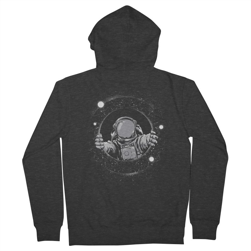 Black Hole Men's French Terry Zip-Up Hoody by digital carbine