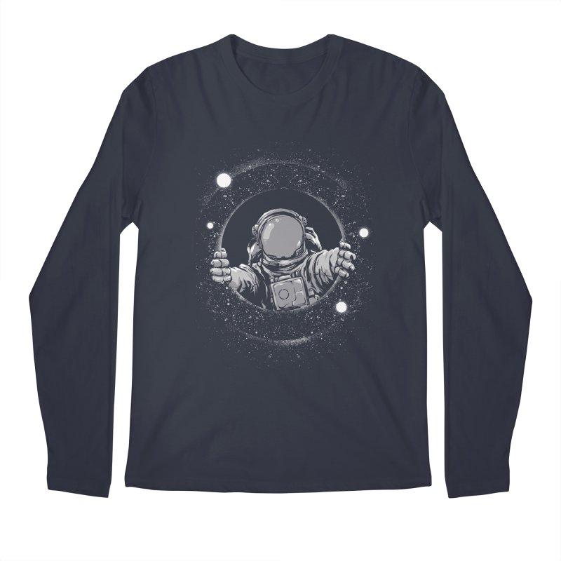 Black Hole Men's Regular Longsleeve T-Shirt by digital carbine