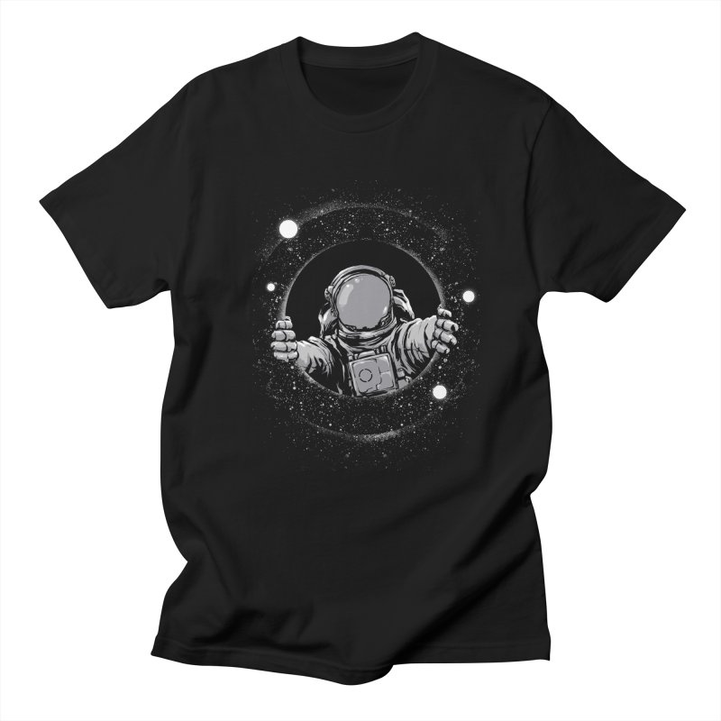 Black Hole Men's Regular T-Shirt by digital carbine